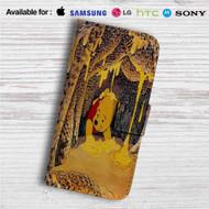 Winnie The Pooh Life is Sweet Custom Leather Wallet iPhone 4/4S 5S/C 6/6S Plus 7  Samsung Galaxy S4 S5 S6 S7 Note 3 4 5  LG G2 G3 G4  Motorola Moto X X2 Nexus 6  Sony Z3 Z4 Mini  HTC ONE X M7 M8 M9 Case