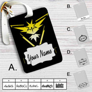 Team Instinct Pokemon Custom Leather Luggage Tag