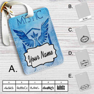 Team Mystic Pokemon Custom Leather Luggage Tag