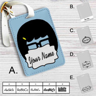 Tina Belcher Uhh Bobs Burgers Custom Leather Luggage Tag