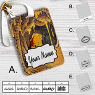 Winnie The Pooh Life is Sweet Custom Leather Luggage Tag