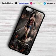 Gal Gadot as Wonder Woman iPhone 4/4S 5 S/C/SE 6/6S Plus 7  Samsung Galaxy S4 S5 S6 S7 NOTE 3 4 5  LG G2 G3 G4  MOTOROLA MOTO X X2 NEXUS 6  SONY Z3 Z4 MINI  HTC ONE X M7 M8 M9 M8 MINI CASE