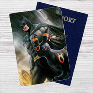 Batman and Umbreon Pokemon Custom Leather Passport Wallet Case Cover