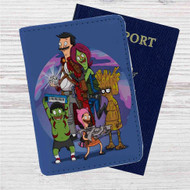 Bob's Burgers as Guardians of the Galaxy Custom Leather Passport Wallet Case Cover