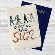 Here Comes The Sun The Beatles Custom Leather Passport Wallet Case Cover