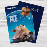 Ice Age Collision Course Astro Nut Custom Leather Passport Wallet Case Cover