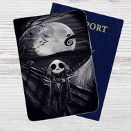 Jack Skellington The Scream Custom Leather Passport Wallet Case Cover