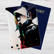 Kaneki Ken Tokyo Ghoul Custom Leather Passport Wallet Case Cover