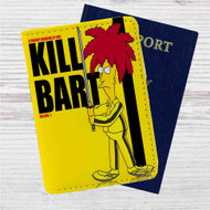 Kill Bart Custom Leather Passport Wallet Case Cover