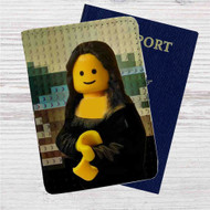 Lego Mona Lisa Custom Leather Passport Wallet Case Cover