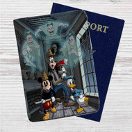 Mickey, Goofy, and Donald Custom Leather Passport Wallet Case Cover
