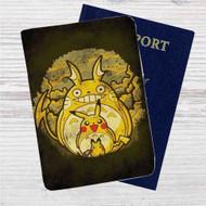 Pikachu Transform Totoro Custom Leather Passport Wallet Case Cover
