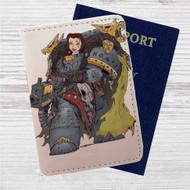 Princess Belle Robot Custom Leather Passport Wallet Case Cover
