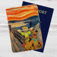 Scooby Doo The Scream Custom Leather Passport Wallet Case Cover