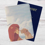 Simba and Nala Disney The Lion King Custom Leather Passport Wallet Case Cover