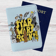 Star Wars Rocks Custom Leather Passport Wallet Case Cover