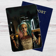 Suicide Squad Harley Quinn Custom Leather Passport Wallet Case Cover