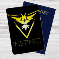 Team Instinct Pokemon Custom Leather Passport Wallet Case Cover