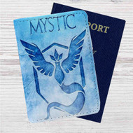 Team Mystic Pokemon Custom Leather Passport Wallet Case Cover
