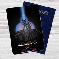 The Legend of Zelda Tron Style Custom Leather Passport Wallet Case Cover