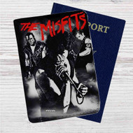 The Misfits Band Custom Leather Passport Wallet Case Cover