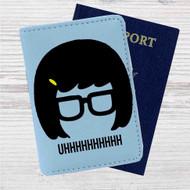 Tina Belcher Uhh Bobs Burgers Custom Leather Passport Wallet Case Cover