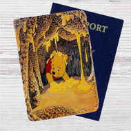 Winnie The Pooh Life is Sweet Custom Leather Passport Wallet Case Cover