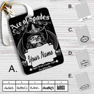 Ace of Spades Custom Leather Luggage Tag