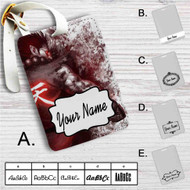 Akuma Street Fighter Custom Leather Luggage Tag