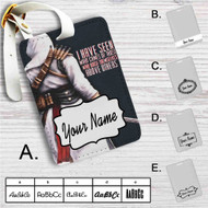 Assassin's Creed Altair Quotes Custom Leather Luggage Tag
