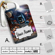 DC Comics Superheroes Lego Custom Leather Luggage Tag