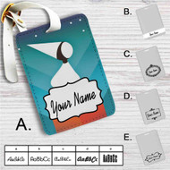 Monument Valley Custom Leather Luggage Tag