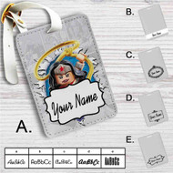 Wonder Woman Lego Custom Leather Luggage Tag