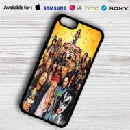 Axl Rose, Ozzy Osbourne, James Hetfield, Gene Simmons All Rocker iPhone 4/4S 5 S/C/SE 6/6S Plus 7  Samsung Galaxy S4 S5 S6 S7 NOTE 3 4 5  LG G2 G3 G4  MOTOROLA MOTO X X2 NEXUS 6  SONY Z3 Z4 MINI  HTC ONE X M7 M8 M9 M8 MINI CASE
