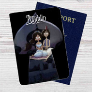 Aladdin and Jasmine Tim Burton Custom Leather Passport Wallet Case Cover
