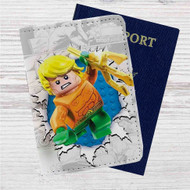 Aquaman Lego Custom Leather Passport Wallet Case Cover