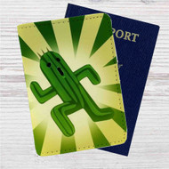 Cactuar Final Fantasy Custom Leather Passport Wallet Case Cover
