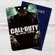 Call Of Duty Black Ops Zombie Custom Leather Passport Wallet Case Cover