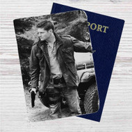 Dean Winchester Custom Leather Passport Wallet Case Cover