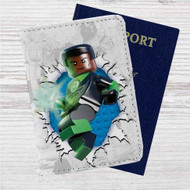 Green Lantern Lego Custom Leather Passport Wallet Case Cover