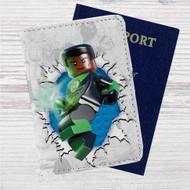 Green Lantern Lego Custom Leather Passport Wallet Case Cover