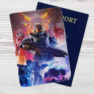 Halo 5 Guardians Custom Leather Passport Wallet Case Cover