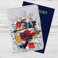 Harley Quinn LEgo Custom Leather Passport Wallet Case Cover