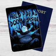 Hold Dead Door Inside Custom Leather Passport Wallet Case Cover