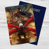 Kaneki Ken vs Venom Custom Leather Passport Wallet Case Cover