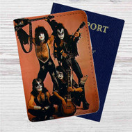 Kiss Classic Rock Custom Leather Passport Wallet Case Cover