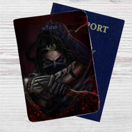 Kitana Mortal Kombat X Custom Leather Passport Wallet Case Cover