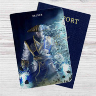 Mortal Kombat X Raiden Custom Leather Passport Wallet Case Cover