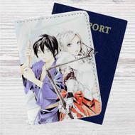 Noragami Yato and Bishamon Custom Leather Passport Wallet Case Cover