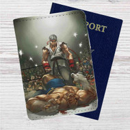 Ryu vs Sagat Street Fighter Custom Leather Passport Wallet Case Cover